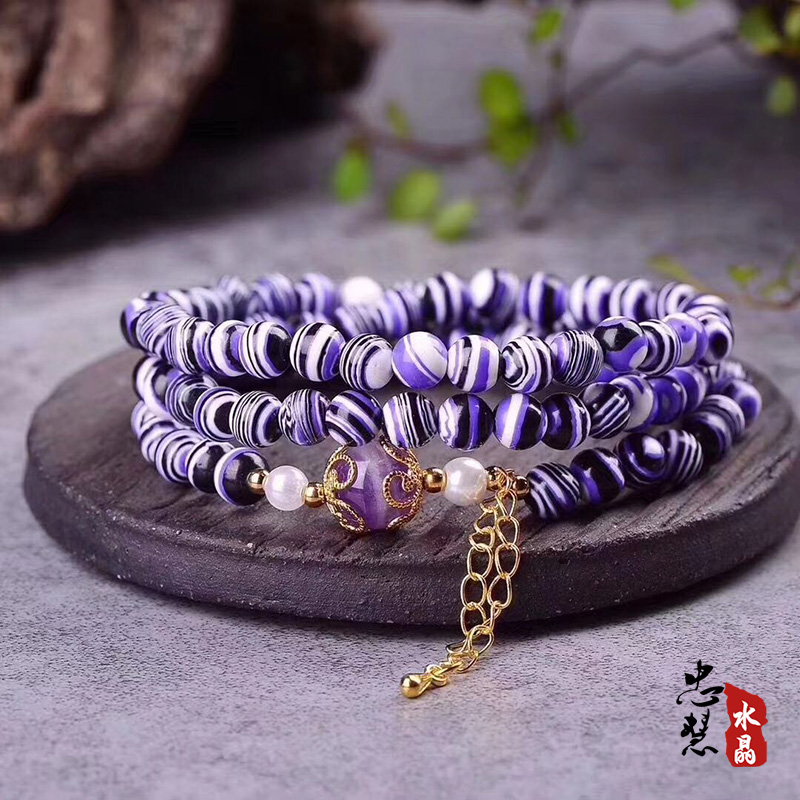 New Donghai crystal zebra stone multi Circle Bracelet womens bracelet accessories with Amethyst shell beads accessories