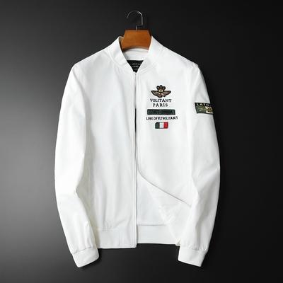 2019秋款新款正常尺码 徽章图案男士棒球夹克衫 55023 P160