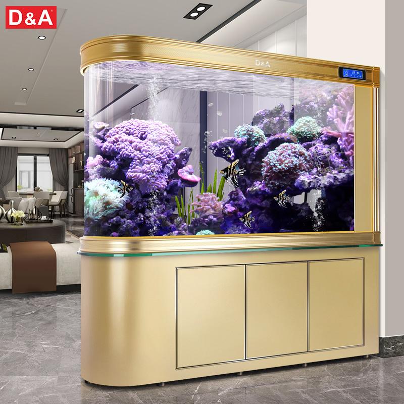 德国德克大型子弹头鱼缸客厅家用底过滤生态鱼缸免换水懒人水族箱