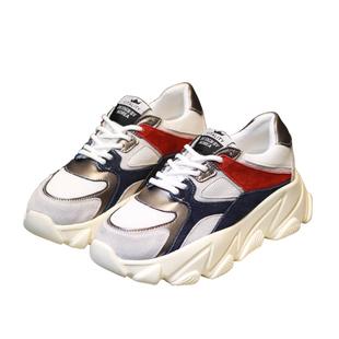 韓版網布女鞋老爹鞋女鞋子春夏季2020新款厚底增高運動鞋小白鞋