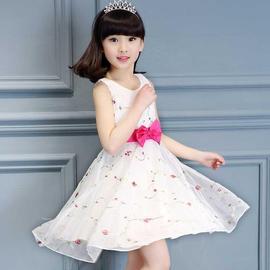 1女童装休闲新款裙子2夏装3儿童4儿童群子5小孩女孩衣服装6岁夏季