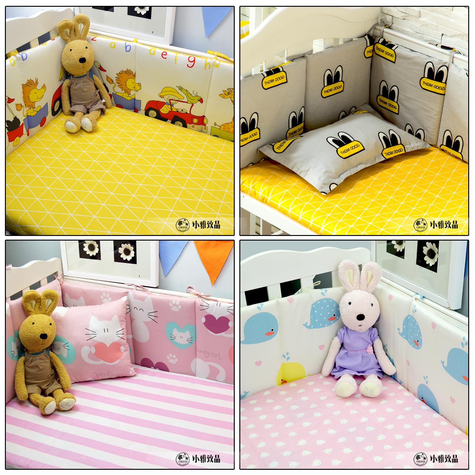 Авария кровать вокруг комплект сделанный на заказ ребенок ребенок младенец младенец четыре сезона кровать занавес хлопок постельные принадлежности индивидуальный кровать для младенца кровать вокруг
