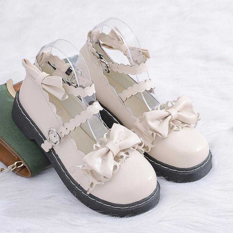 天女風lolita Lolita靴ロ日系ローリーショーjk小靴茶会靴ユニフォーム靴女