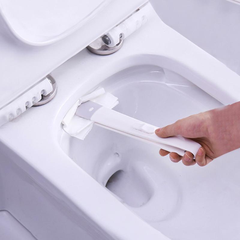 日本LEC家用马桶刷湿巾清洁夹除垢镊子创意免打孔长柄马桶清洁刷券后18.90元