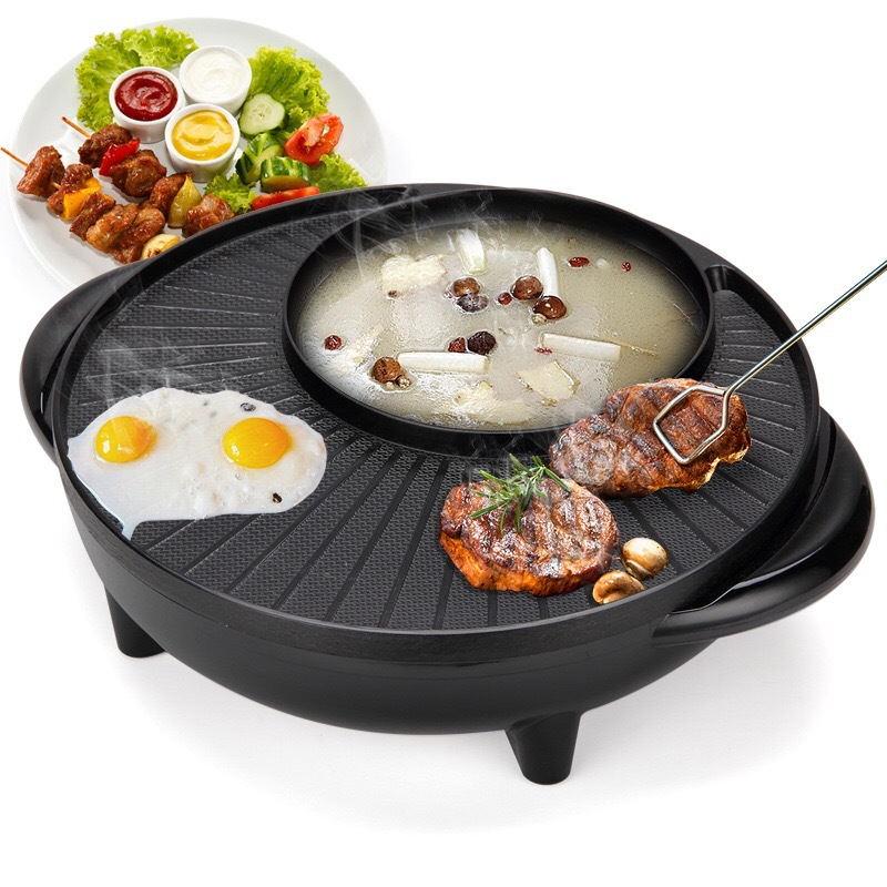 Корейский электричество барбекю домой нет дым электричество формы для выпечки многофункциональный Полоскание жаркое блюдо один горшок палка жаркое мясо пакет почта