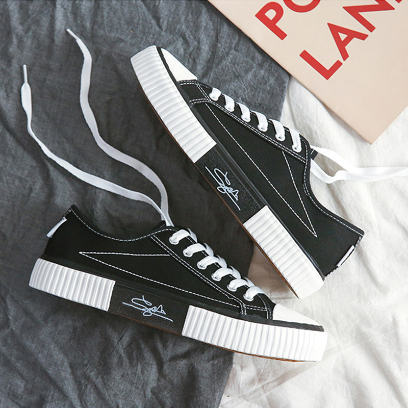 2020新款板鞋休闲低帮帆布鞋韩版情侣百搭学生男女潮鞋透气潮流