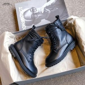 香港真皮儿童2020秋季新款男童皮靴