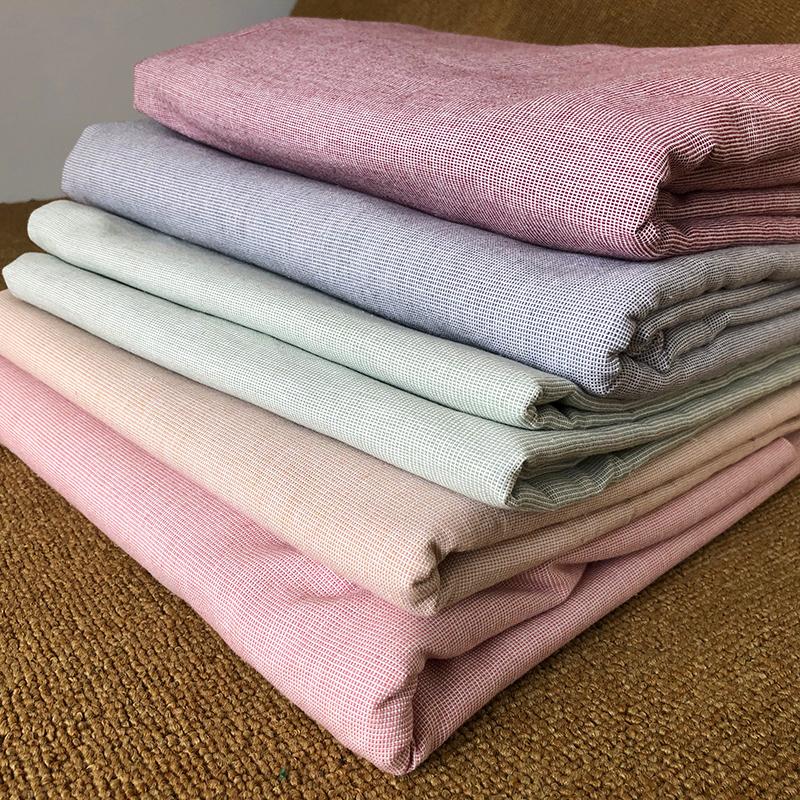 加密加厚精梳纯棉纯色粗布床单大炕单人纯棉老粗布全棉麻被单单件