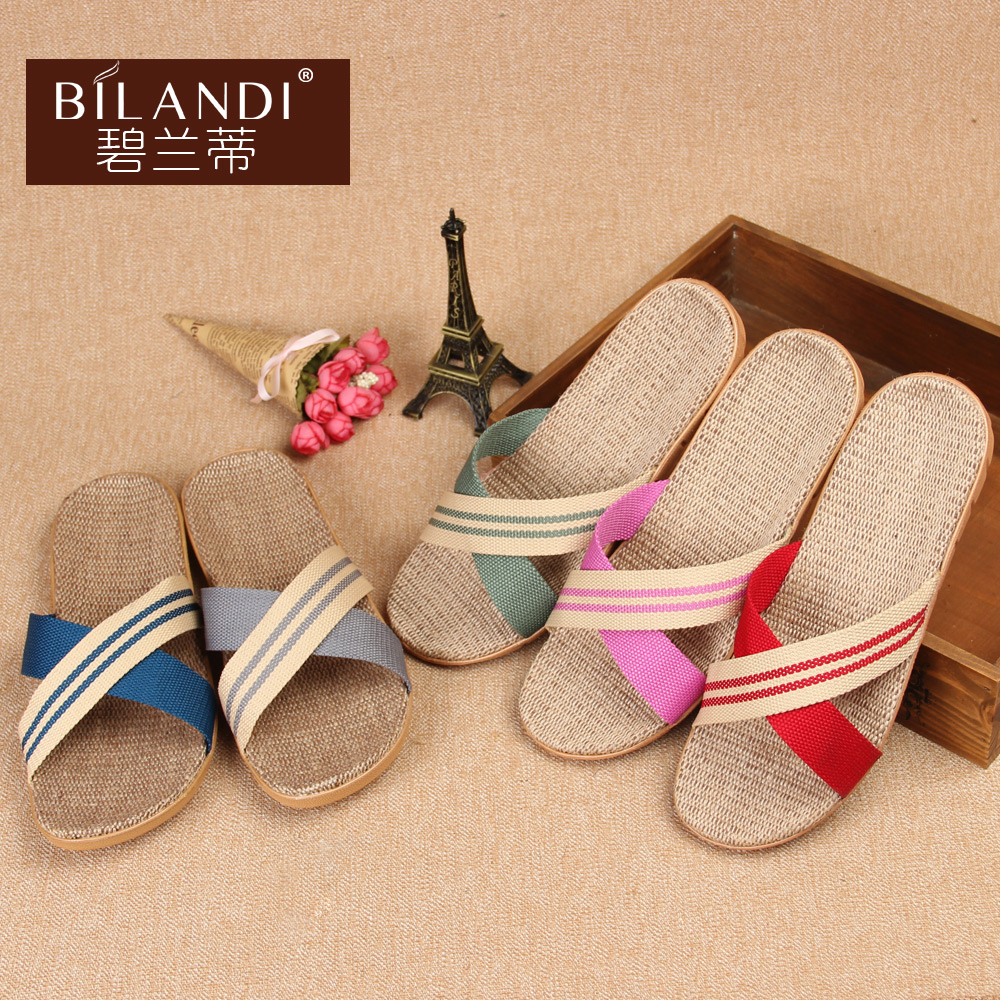 [special price every day] linen slippers summer home couples mens and womens slippers