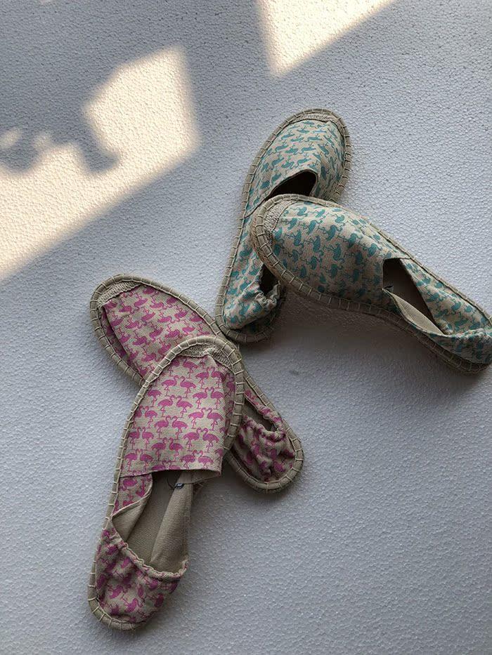 包邮费 平底针织懒人一脚蹬平底鞋  低帮豆豆鞋
