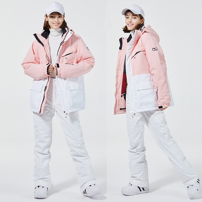 New product ski suit women's warm and thick winter outdoor windproof, waterproof and wear-resistant tooling single and double ski suits