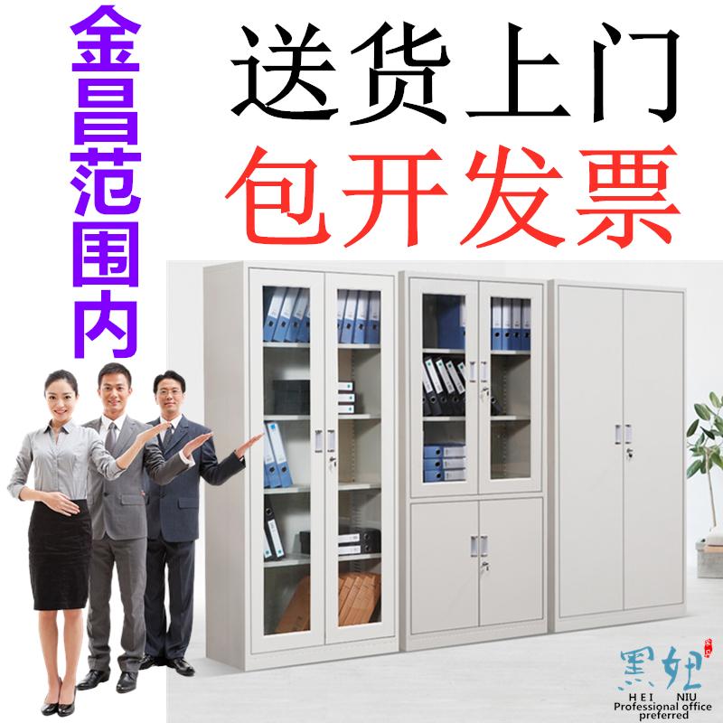 金昌文件柜玻璃展示办公家具铁皮资料玻璃储物抽屉档案凭证文具柜