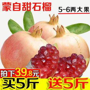 云南蒙自甜石榴 薄皮多汁 新鲜水果石榴 非突尼斯软籽 10斤包邮