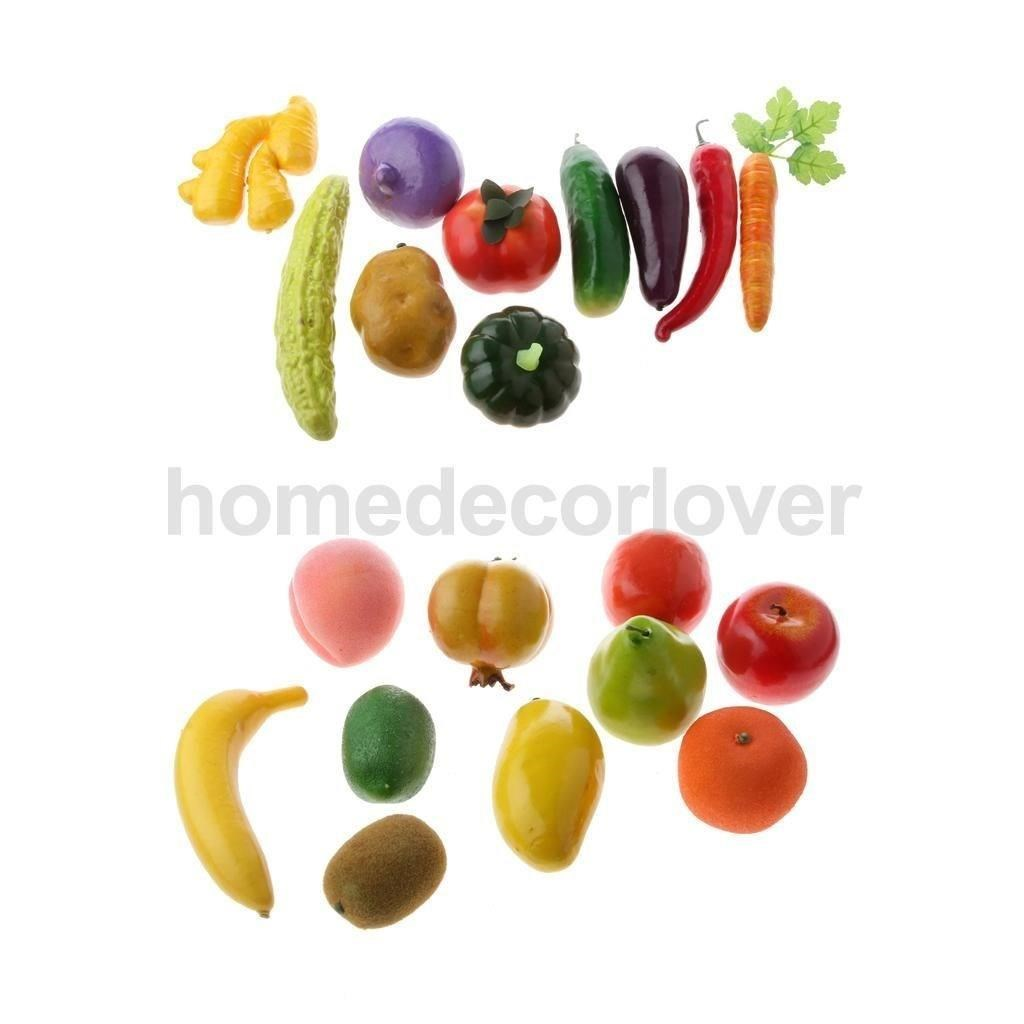 10pcs/lot artificial vegetables / fruits  imitation food