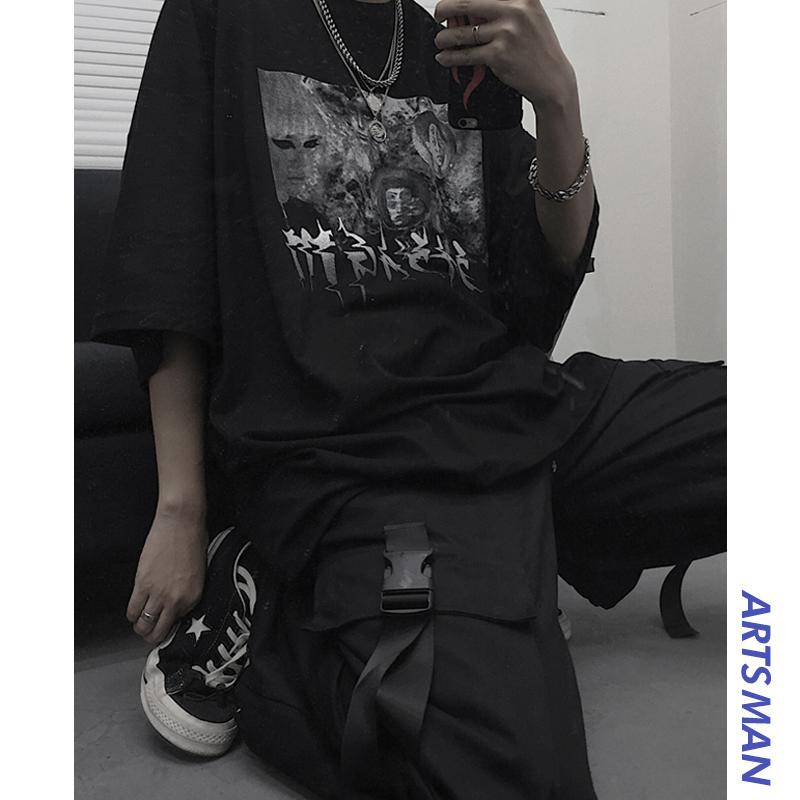 不包邮@港仔文艺男韩国ins复古短袖t恤