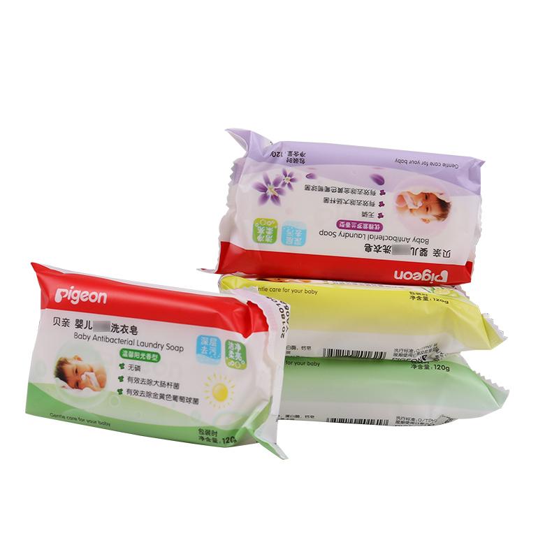 貝親嬰兒洗衣皂寶寶肥皂新生兒 無磷尿布皂兒童香皂120g^~4塊