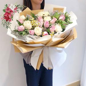 七夕情人节鲜花粉色系生日爱人朋友杭州同城鲜花速递花店送花上门