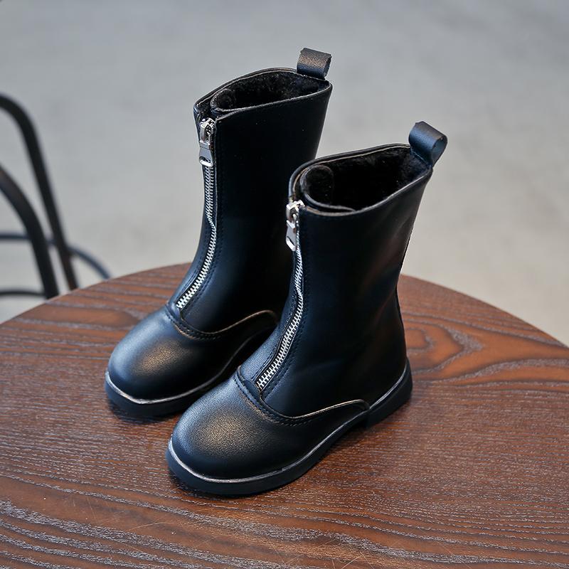 包邮2018冬韩版儿童雪地靴女童靴子公主鞋中筒靴高筒靴时装靴棉靴
