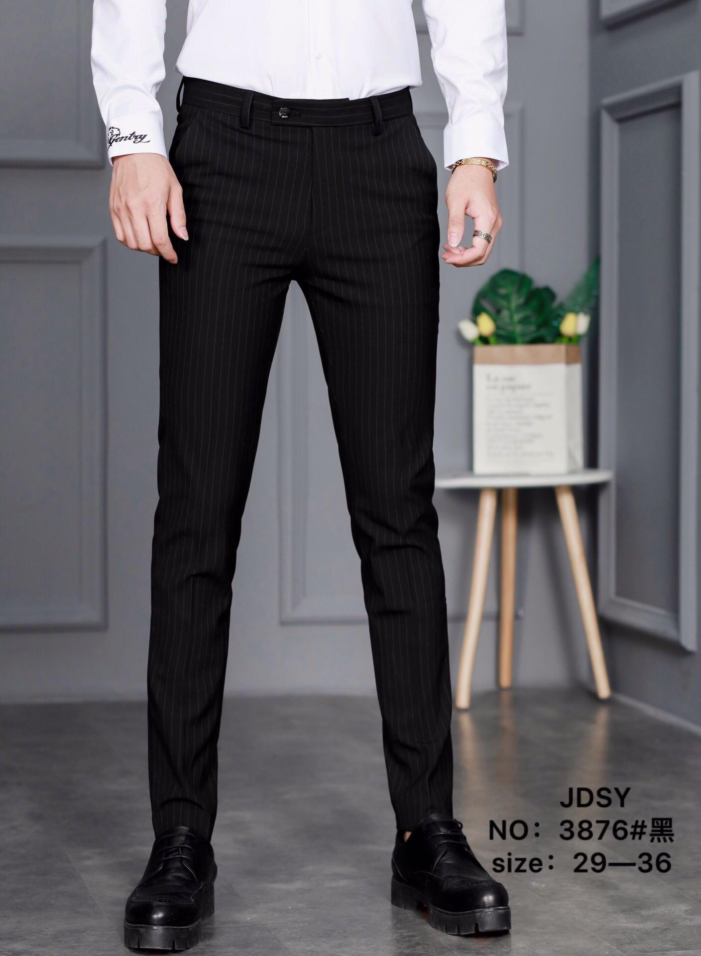 级度尚瘾原创男装 2019新款韩版男士百搭显瘦修身格子长裤