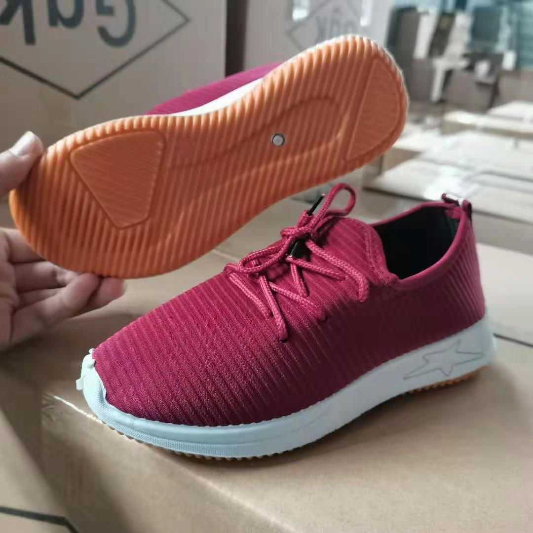 厂家帆布鞋老北京中老年健步鞋男女士加厚牛筋底一脚蹬轻便单鞋