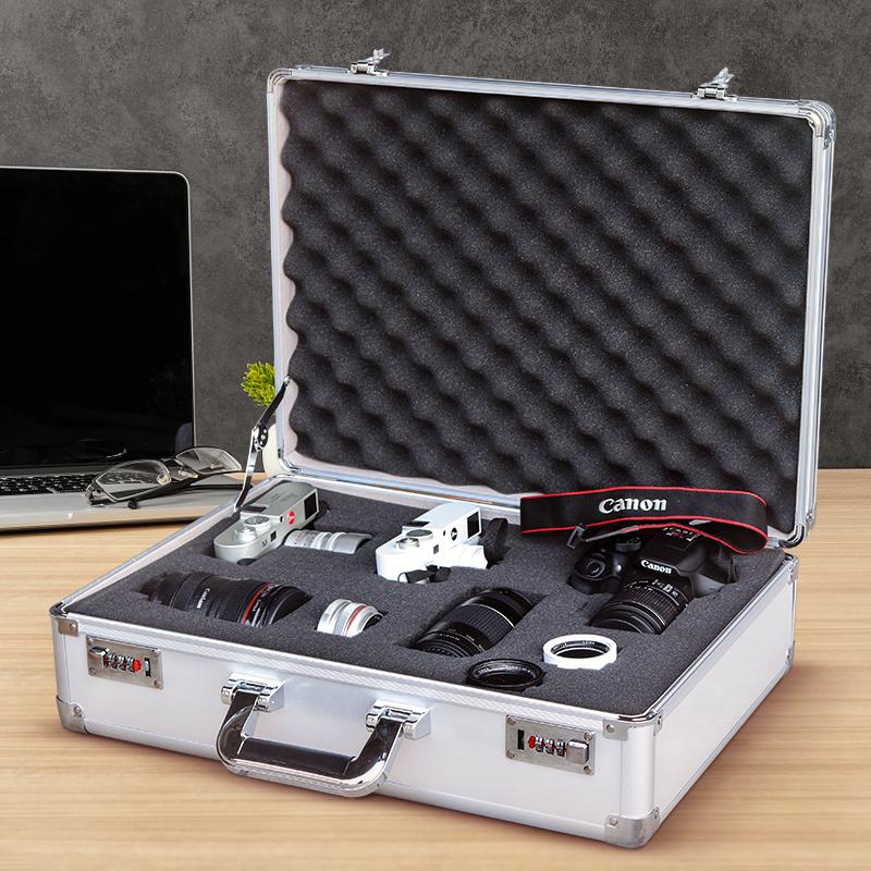单反相机防潮箱摄影器材箱镜头收纳箱防震相机海绵小型干燥防潮盒
