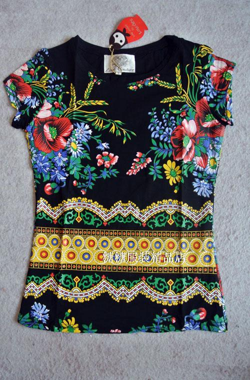 ЛЮБОВЬ МОДА женщин классические тела ЛУРДЕС 2015 новой печати чистого хлопка короткий рукав футболки