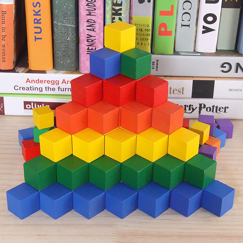 数学教具木头拼装搭儿童益智玩具
