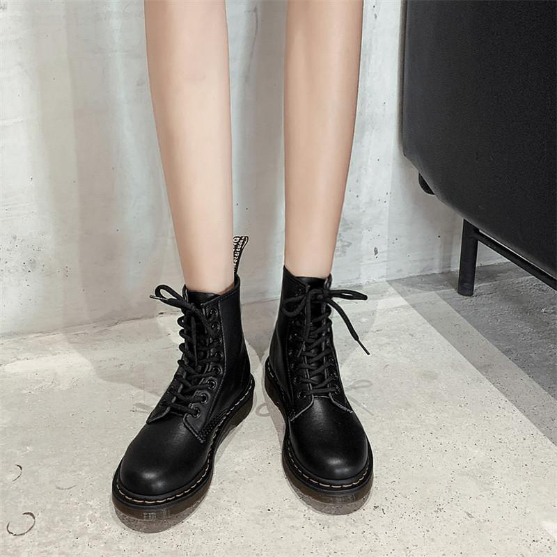 马丁靴女夏季透气英伦风平底短靴春秋薄款内增高百搭机车单靴子潮