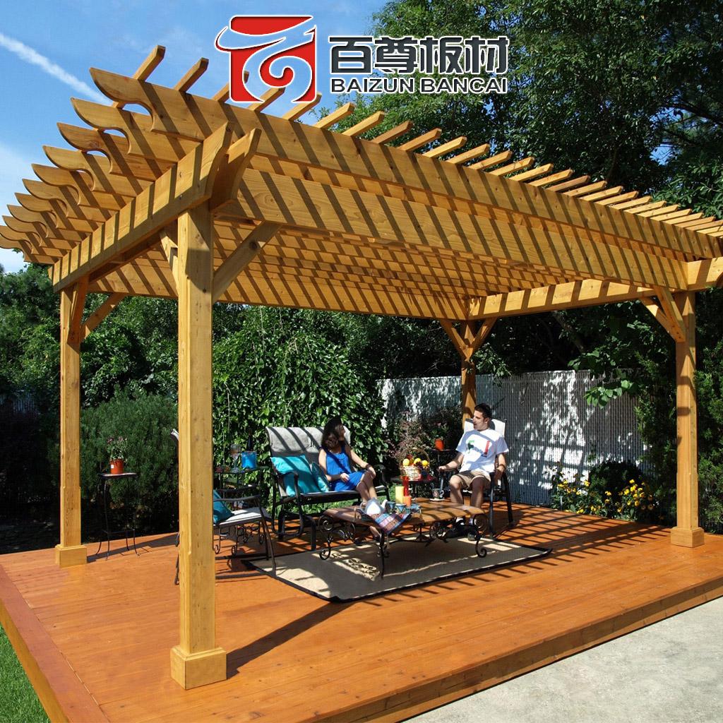 百尊 定製防腐木葡萄架 庭院碳化木爬藤戶外花架涼亭陽光房木屋