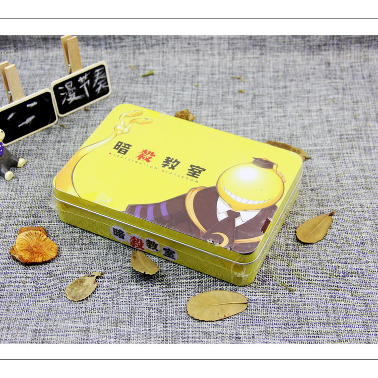 Animation new assassinate classroom stationery gift box Bracelet badge card case Postcard mobile phone holder coaster bookmark