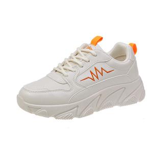 老爹鞋女ins潮顯腳小秋季2020新款皮面小白運動鞋子冬季百搭學生