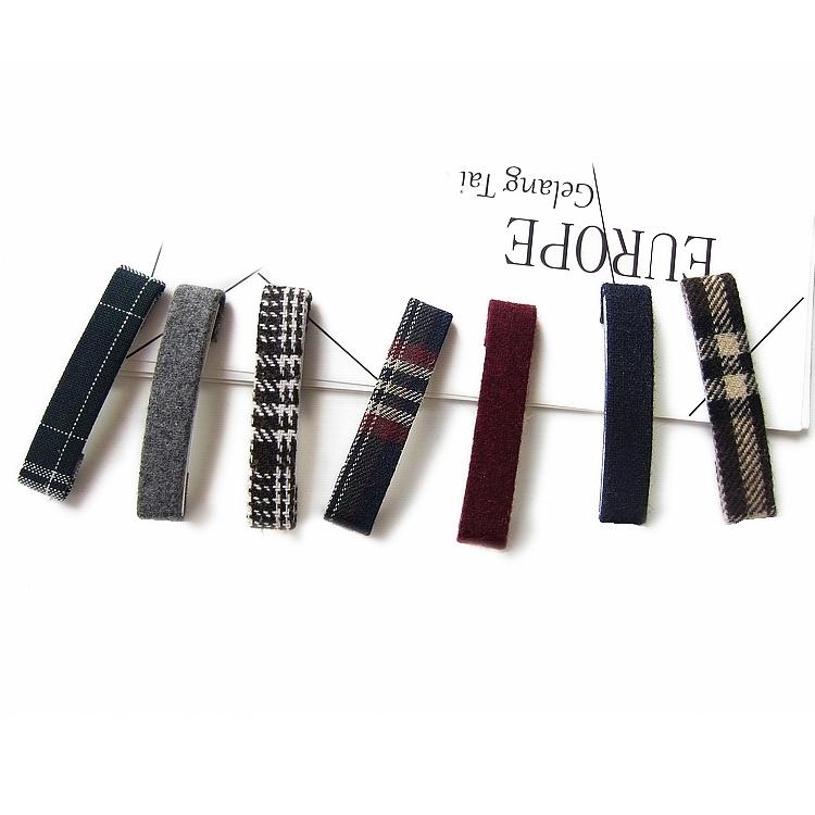 New tweed Plaid hairpin, duck beak hairpin, cloth hairpin, 3 pieces of art versatile clip