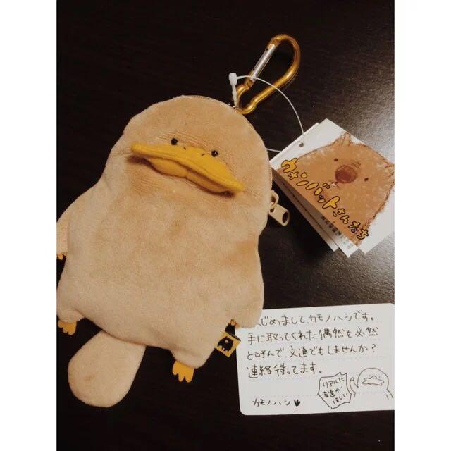 现货日本zakka 树袋熊家族毛绒鸭嘴兽土拨鼠零钱包挂件钥匙扣卡包