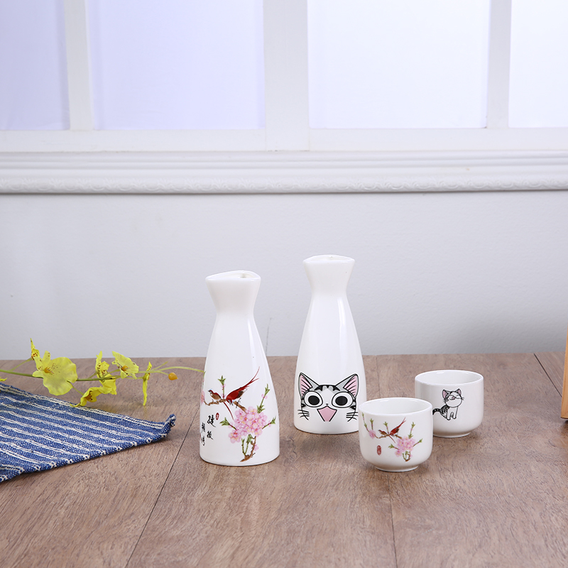 Ceramic wine cup, wine pot, wine set, sake bottle, warm wine pot, wine distributor, Japanese pure white wine pot