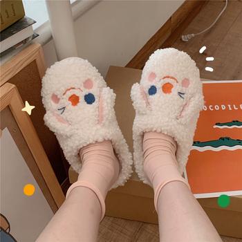 细细条可爱女冬韩国ins潮棉拖鞋