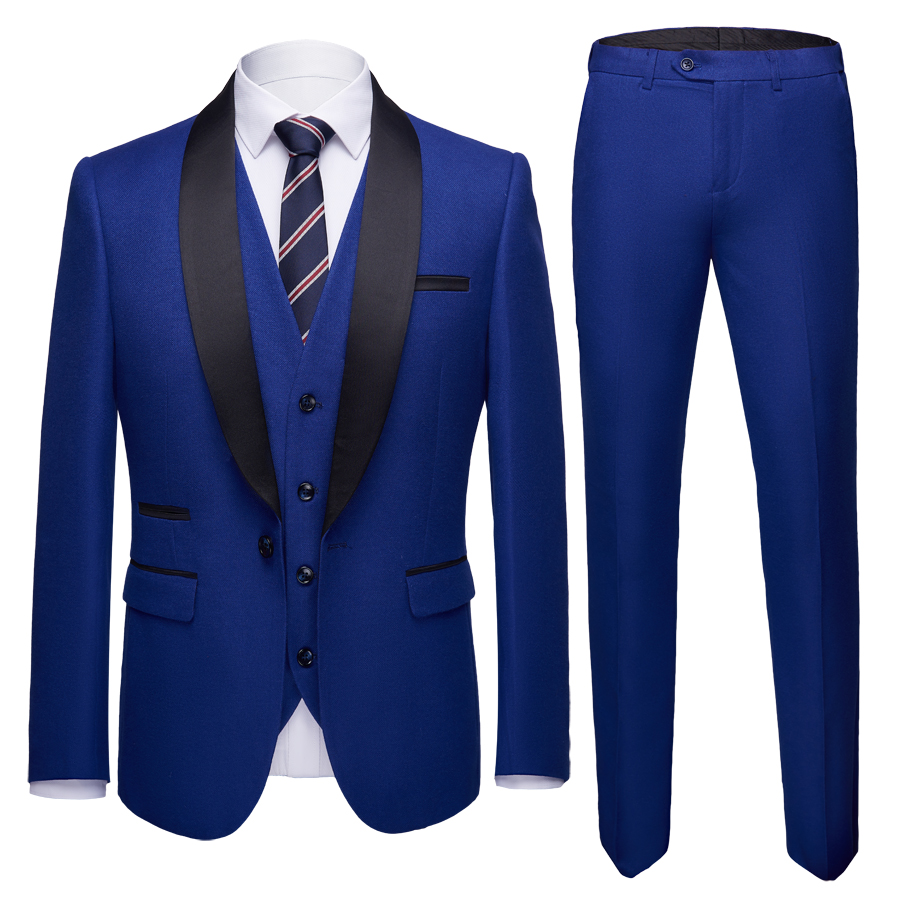 Mens business casual suit in foreign trade mens slim wedding bridegrooms three piece suit p245