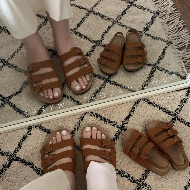 BabyWe韩国代购童鞋女宝宝Yoku鞋男童软底防滑凉鞋松紧带时尚亲子