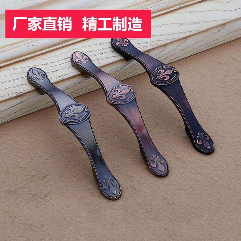 2063中式古铜酒柜抽屉拉手 美式衣柜柜门把手家具五金拉手厂家
