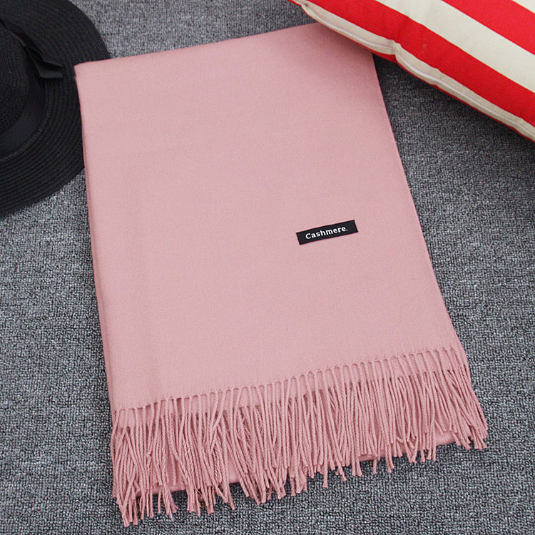 Scarf women spring and autumn thin Korean version versatile long summer air conditioning shawl dual purpose solid color cashmere imitation student neck