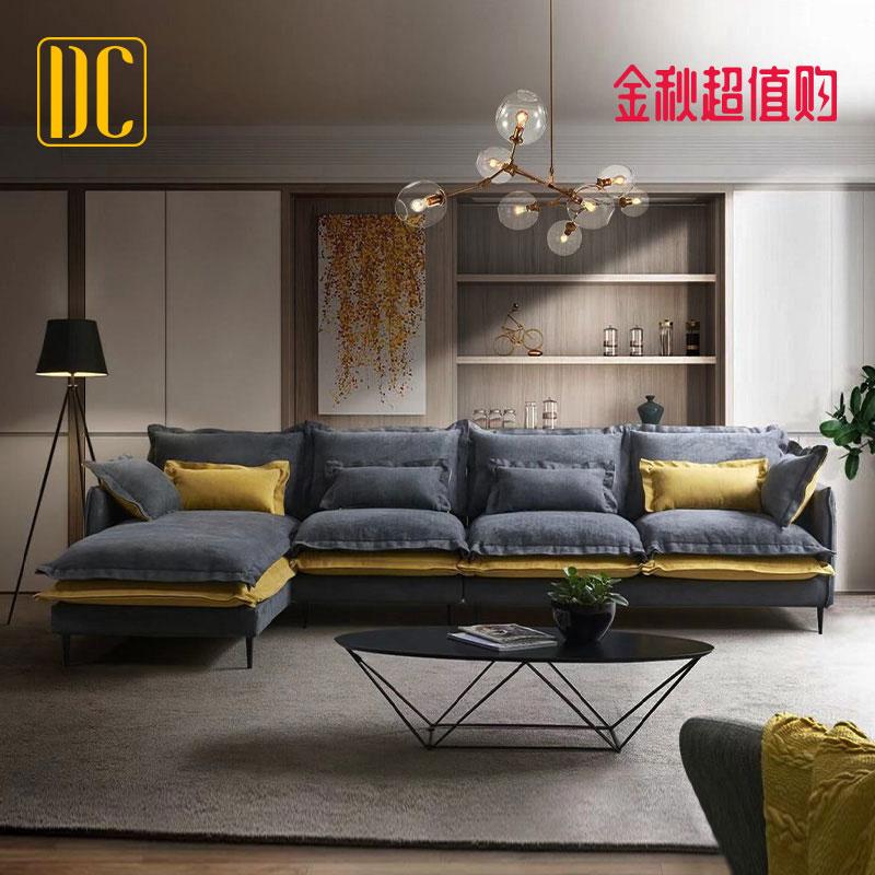 布艺沙发 简约现代 北欧风免洗小户型客厅轻奢乳胶三人位组合家具(用200元券)