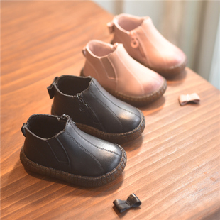 秋冬季宝宝学步鞋软底婴儿皮鞋棉鞋男女童0-2岁1-3公主加绒短靴潮图片