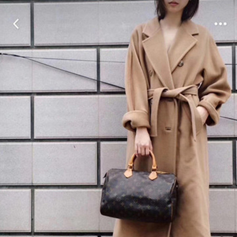 Autumn and winter new anti season double face wool coat womens middle and long m family 101801 cashmere coat over the knee Camel