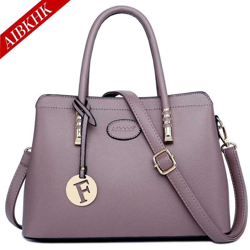 Versatile handbag handbag leather womens handbag womens one shoulder slant hanging bag fashion trend bag large womens bag