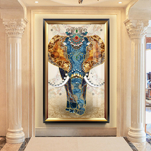 Auspicious Elephant Vertical Hall 5D Cross Embroidery Diamond Embroidery 2019