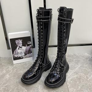 幂幂同款骑士靴2021春秋新款女鞋
