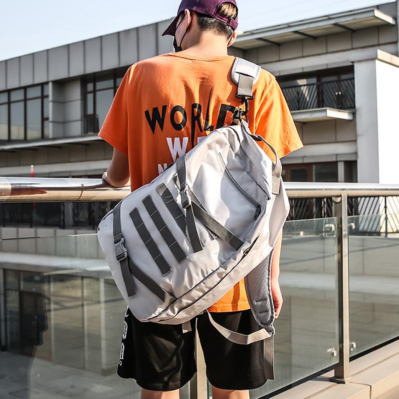 潮牌双肩包男韩版旅游大学生书包女时尚潮流大容量旅行超火的背包