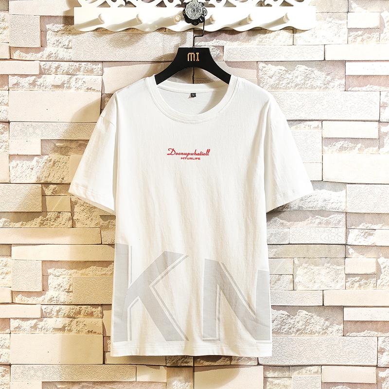 短袖t恤男夏季新款潮牌寬松男士半袖體恤純棉潮流學生春夏上衣服