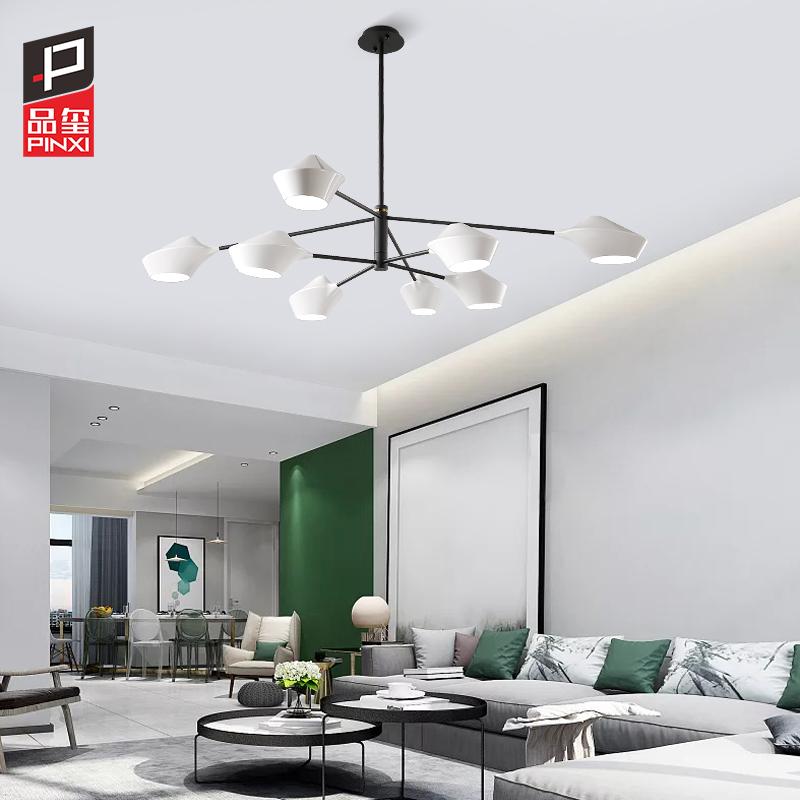 品玺北欧客厅吊灯LED个性创意餐厅灯具大气家用简约现代卧室灯饰