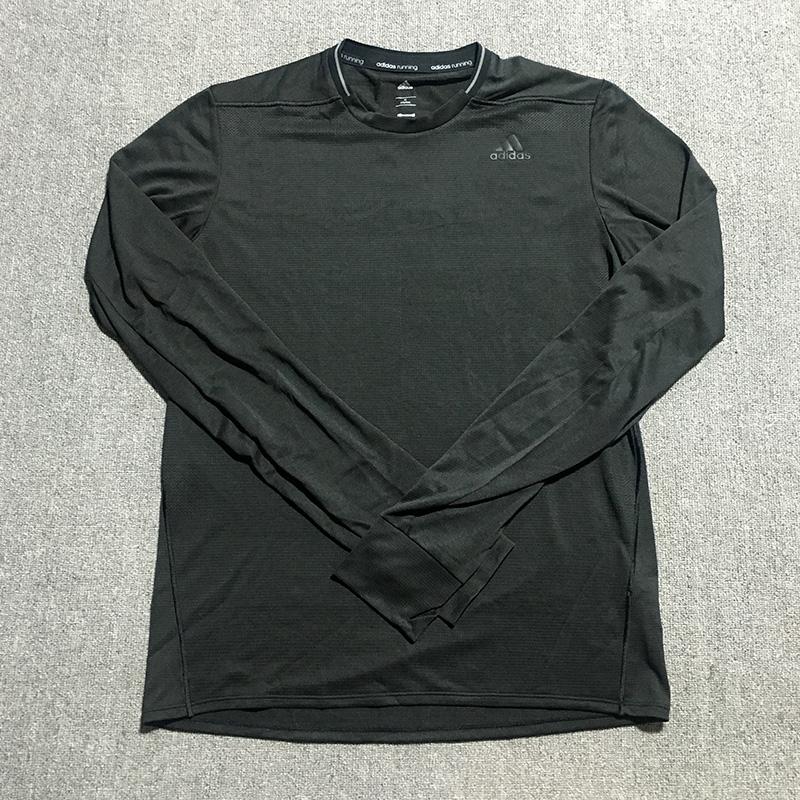 Adidas阿迪达斯 男子长袖T恤跑步休闲运动服 AX8467