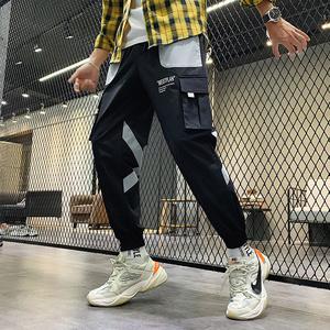 情侣长裤工装裤子男女秋季潮牌束脚薄款韩版潮流ins2019新款长裤